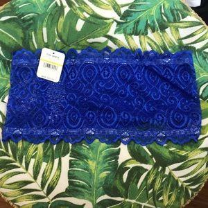 NWT Free People Royal Blue Lace Bandeau